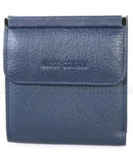 Компактный кошелек синего цвета от Marco Coverna MC213B-5-DARK-BLUE