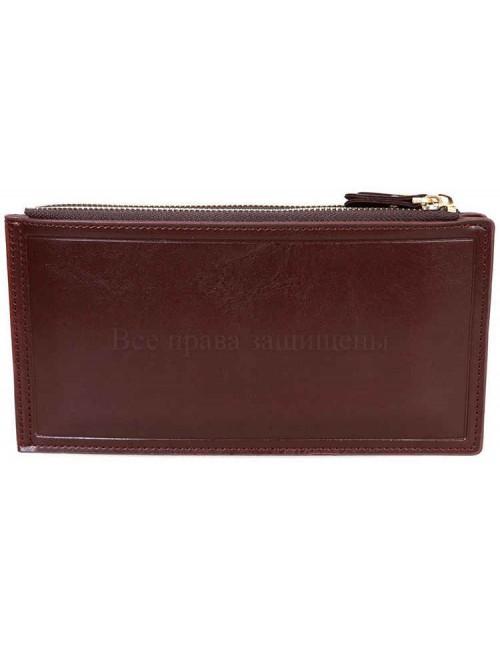 Лаконичный стильный кошелек из экокожи от SALFAITE AL1029-4-BROWN