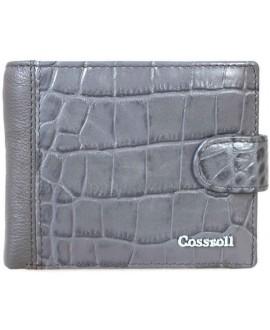 Стильный женский кожаный кошелек серого цвета от Cossroll A91-6208-6-GREY-2