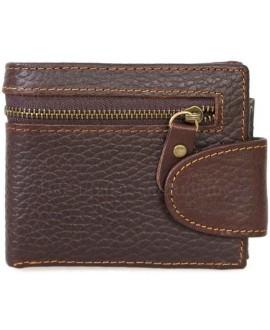 Модный кошелек темно-коричневого цвета в стиле гранж от SALFEITE A-VINTAGE-072