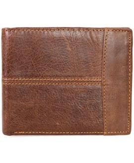 Модный кошелек коричневого цвета в стиле гранж от SALFEITE A-VINTAGE-071