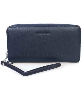 Модный кожаный кошелек синего цвета от Marco Coverna MC7003-5-DARK-BLUE