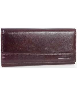 Стильный кожаный кошелек коричневого цвета от Marco Coverna MC-N-3-604-BROWN