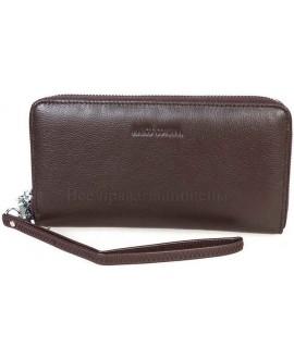 Модный кожаный кошелек коричневого цвета от Marco Coverna MC7003-9-BROWN