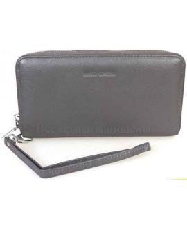 Модный кожаный кошелек серого цвета от Marco Coverna MC7003-3-GREY