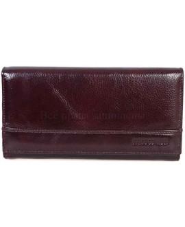 Стильный кожаный кошелек коричневого цвета от Marco Coverna MC-N3-1013B-BROWN