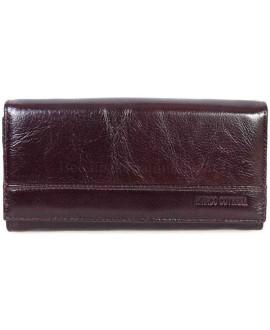 Стильный кожаный кошелек коричневого цвета от Marco Coverna MC-N3-1013-BROWN