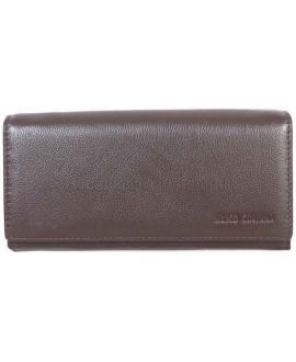 Женский классичекий кожаный кошелек коричневого цвета от Marco Coverna MC1411-9-BROWN