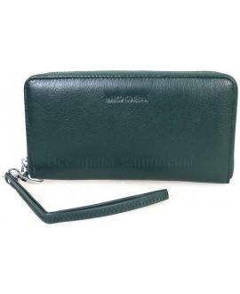 Модный кожаный кошелек зеленого цвета от Marco Coverna MC7003-7-GREEN