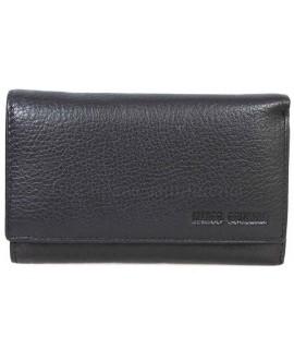 Стильный кошелек черного цвета от Marco Coverna MC1418-1-BLACK
