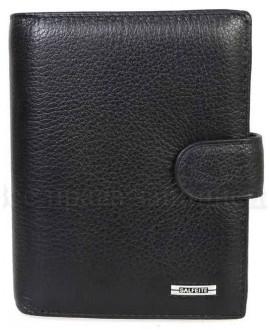 Стильный мужской кожаный кошелек черного цвета от SALFEITE S-387-302-1-BLACK