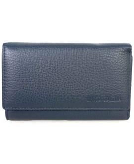 Стильный кошелек синего цвета от Marco Coverna MC1418-5-DARK-BLUE