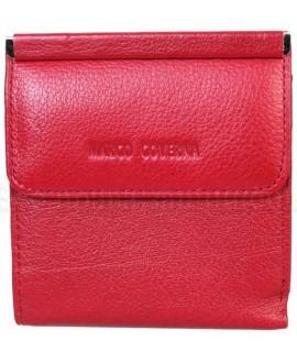 Компактный кошелек темно-красного цвета от Marco Coverna MC213B-4-DARK-RED
