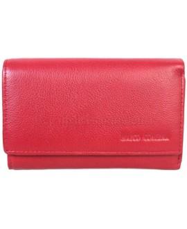 Стильный кошелек темно-красного цвета от Marco Coverna MC1418-4-DARK-RED
