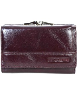Стильный кожаный кошелек коричневого цвета от Marco Coverna MC-N3-1014-BROWN