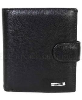 Стильный мужской кожаный кошелек черного цвета от SALFEITE S-387-6060-1-BLACK