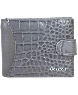 Стильный женский кожаный кошелек серого цвета от Cossroll A91-6208-6-GREY-1