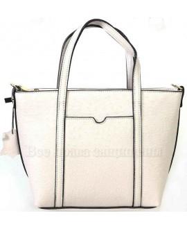 Компактная женская кожаная сумка белого цвета от SK Leather Collection SKD-009-WHITE