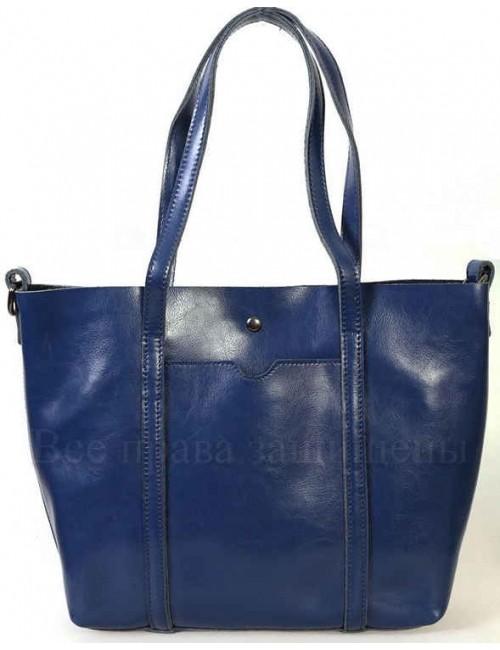 Стильная женская кожаная сумка синего цвета от SK Leather Collection SK8501-BLUE