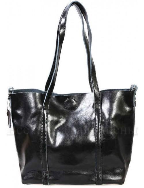 Стильная женская кожаная сумка черного цвета от SK Leather Collection SK8501-BLACK