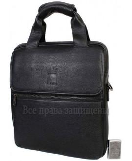 Повседневная наплечная сумка из натуральной кожи черного цвета с ручкой для современных мужчин Savio (Savio-5010-2-opt) в категории купить сумки оптом недорого Украина