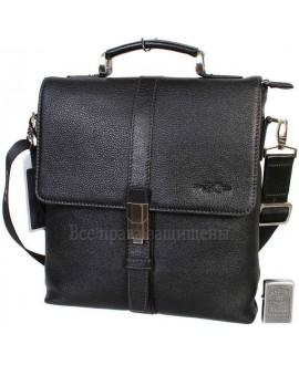 Наплечная сумка бизнес-класса из натуральной кожи с ручкой для солидных мужчин HT-5117-2-opt в категории купить сумки оптом недорого Львов