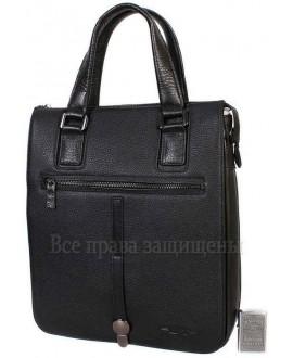 Стильная наплечная сумка из натуральной кожи черного цвета с ручкой для современных мужчин HT-5250-2-opt в категории купить сумки оптом недорого Киев