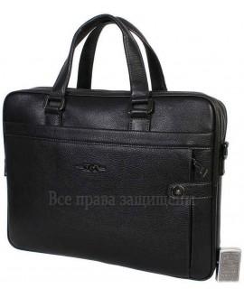 Стильная мужская сумка для ноутбука формата А4 черного цвета из натуральной кожи HT-5124-1-opt в категории купить недорого сумки для ноутбука оптом Украина