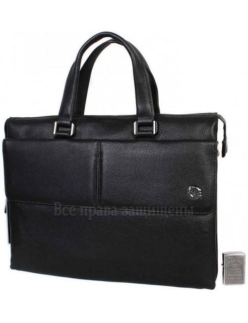 Стильная мужская сумка для ноутбука формата А4 черного цвета из натуральной кожи HT-5281-1-opt в категории купить сумки для ноутбука оптом Днепр
