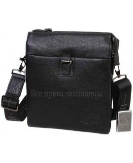 Наплечная черная сумка бизнес-класса из натуральной кожи для солидных мужчин HT-5258-4-opt в категории купить недорого мужские сумки оптом Одесса
