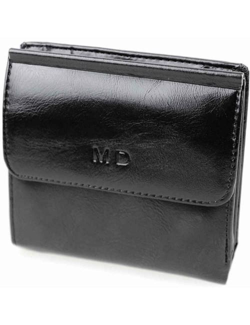Модный кошелек черного цвета от MD-Eco EMD-4459-1