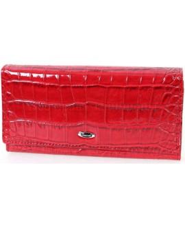 Стильный женский кошелек красного цвета от Cossroll C04-9111-1-RED