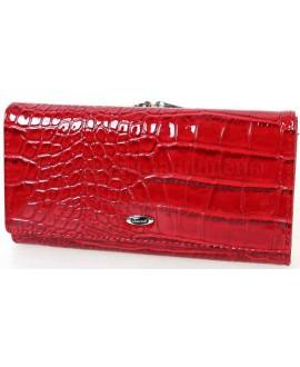Стильный женский кошелек красного цвета от Cossroll C04-9112-1-RED