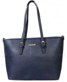 Стильная женская сумка из экокожи от SK Leather Collection SK1112-DARK-BLUE