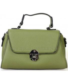 Женская компактная сумка из экокожи от SK Leather Collection от SK1629-GREEN