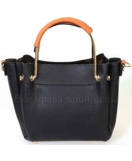 Женская стильная компактная сумка из экокожи от SK Leather Collection SK1213-BLACK