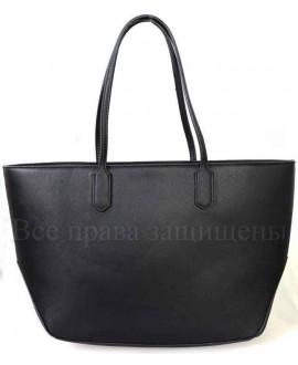 Стильная женская сумка черного цвета из экокожи от SK Leather Collection SKE206-BLACK