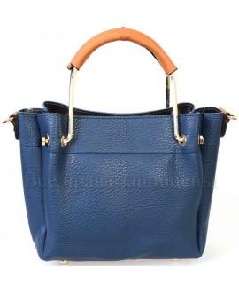 Женская стильная компактная сумка из экокожи от SK Leather Collection SK1213-DARK-BLUE