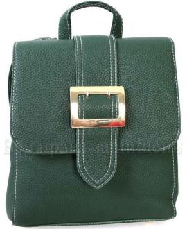 Компактный женский рюкзак из экокожи от SK Leather Collection SK7510-GREEN