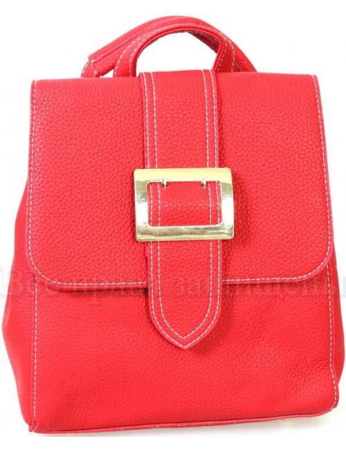 Компактный женский рюкзак из экокожи от SK Leather Collection SK7510-RED