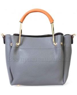 Женская стильная компактная сумка из экокожи от SK Leather Collection SK1213-GREY