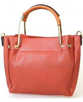 Женская стильная компактная сумка из экокожи от SK Leather Collection SK1213-RED