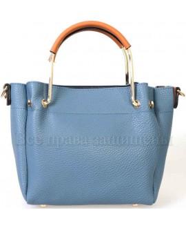 Женская стильная компактная сумка из экокожи от SK Leather Collection SK1213-BLUE