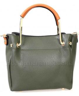 Женская стильная компактная сумка из экокожи от SK Leather Collection SK1213-GREEN