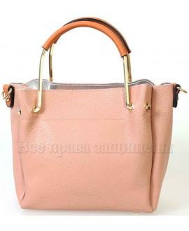 Женская стильная компактная сумка из экокожи от SK Leather Collection SK1213-PINK