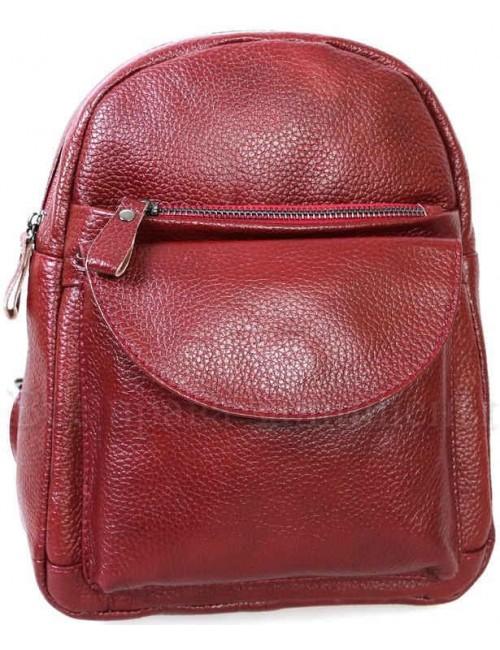 Женский стильный кожаный рюкзак красного цвета от SK Leather Collection SK-1007-RED