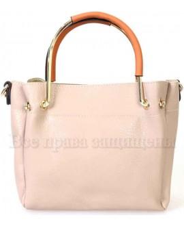 Женская стильная компактная сумка из экокожи от SK Leather Collection SK1213-BEIGE