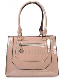 Модная женская сумка из экокожи от SK Leather Collection SKBE237-DARK-BEIGE