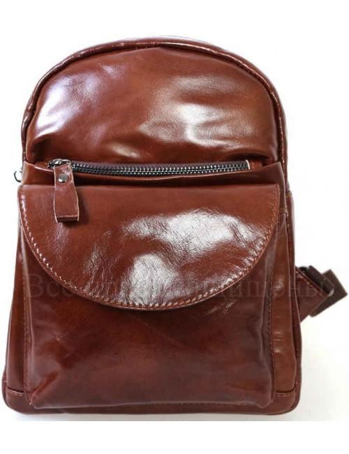 Женский стильный кожаный рюкзак коричневого цвета от SK Leather Collection SK-1007-BROWN