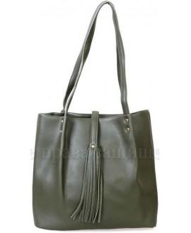 Модная женская сумка из экокожи от SK Leather Collection SK286-GREEN
